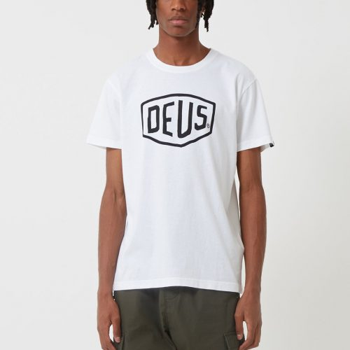 Mens Deus Ex Machina Shield T-Shirt in White