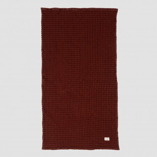 Mens Ferm Living Organic Hand Towel in Cinnamon