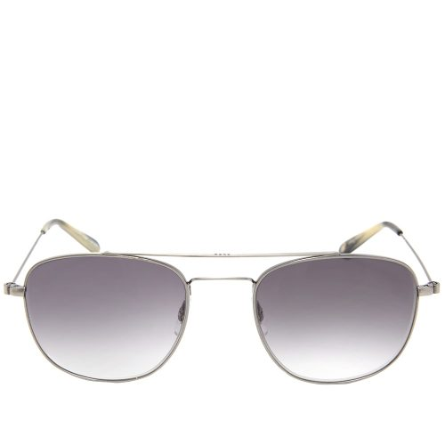 Mens Garrett Leight Clubhouse Sunglasses in Pewter