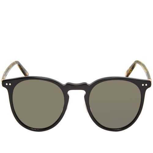 Mens Garrett Leight Ocean Sunglasses in Black & Tortoiseshell