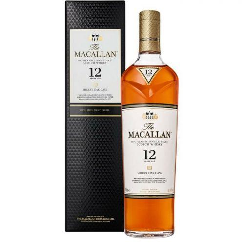 Mens Macallan 12 Year Old Sherry Oak Single Malt Scotch Whisky