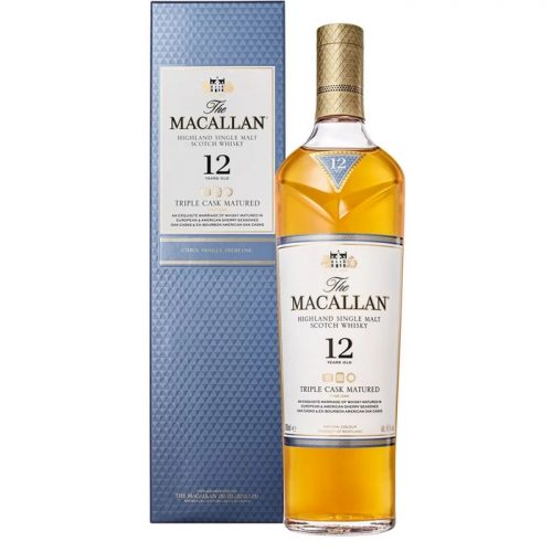 Mens Macallan 12 Year Old Triple Cask Matured Single Malt Scotch Whisky