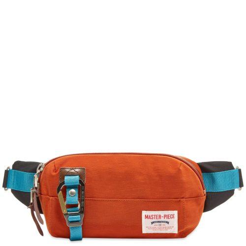 Mens Master-Piece Link Series Waist Bag in Burnt Orange