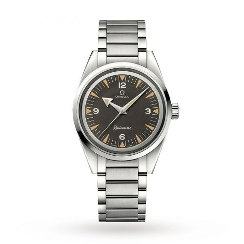 Mens Omega 1957 Railmaster Limited Edition 38mm Watch in Black