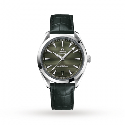 Mens Omega Seamaster Aqua Terra 150m Co-Axial 41mm Watch in Green