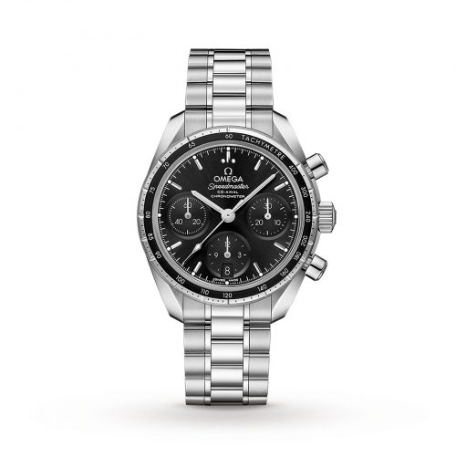 Mens Omega Speedmaster Co-Axial 38mm Moonwatch Watch in Black