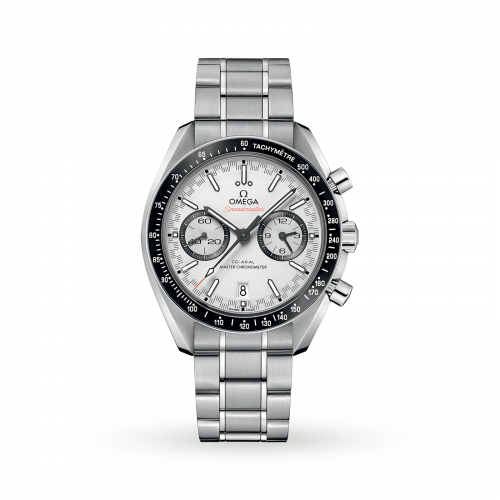 Mens Omega Speedmaster Racing Omega Co-Axial 44mm Watch in White