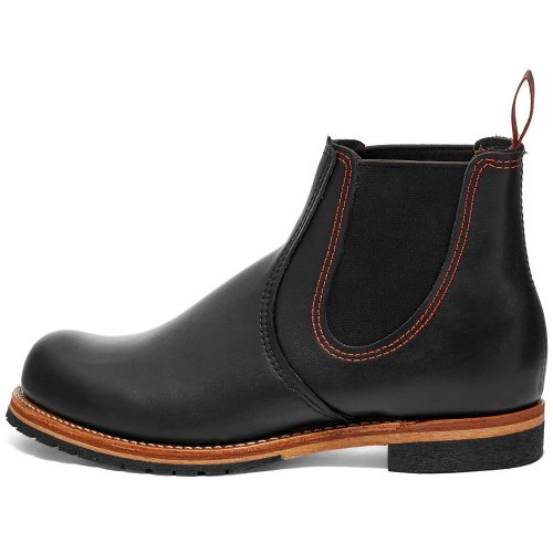 Mens Red Wing 2918 Chelsea Rancher Boots in Black