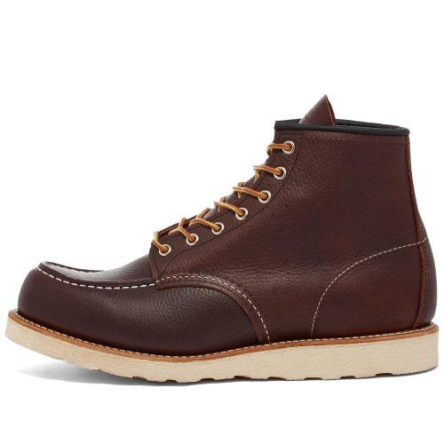 """Mens Red Wing 8138 Heritage Work 6"""" Moc Toe Boots in Briar Oil Slick Leather"""