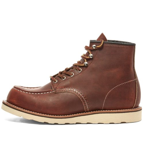 Mens Red Wing Classic Moc Toe Boots in Oro-harness Brown