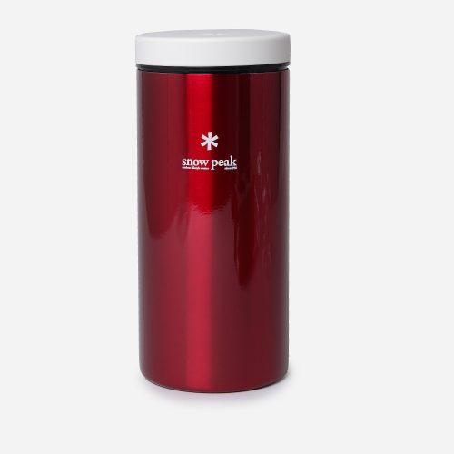 Mens Snow Peak Kanpai Bottle 350ml in Red