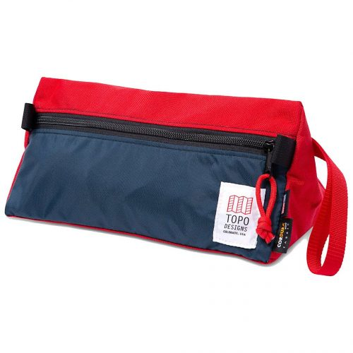 Mens TOPO Designs Dopp Kit Pencil Case in Navy & Red
