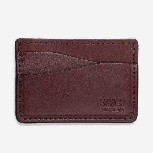Mens Tanner Goods Journeyman Wallet in Brown