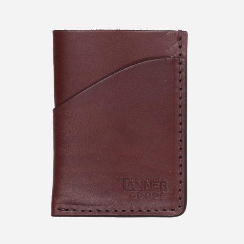 Mens Tanner Goods Minimal Card Wallet in Brown