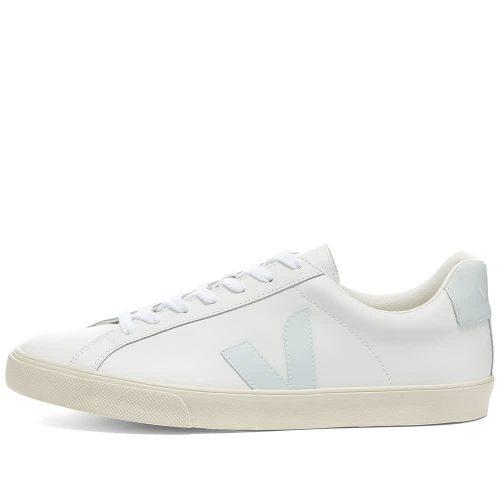 Mens Veja Esplar Clean Leather Sneakers in All White