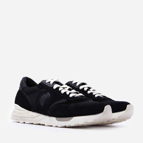 Mens Visvim Roland Jogger Sneakers in Black
