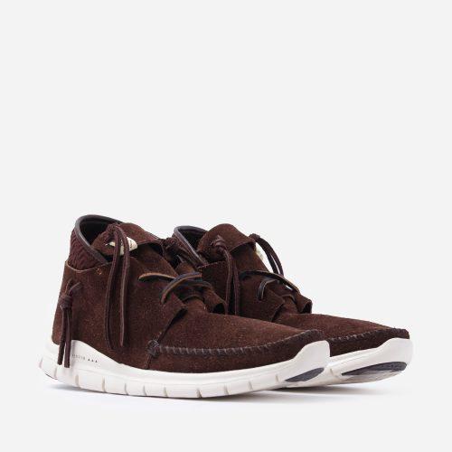 Mens Visvim UTE Moc Mid-Folk Sneakers in Brown