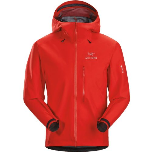 Mens Arc'teryx Alpha FL GORe-TeX Pro Waterproof Jacket in Dynasty Red