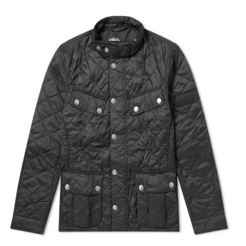Mens Barbour International Ariel Quilt Jacket in Black