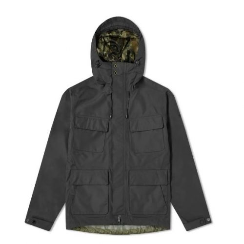 Mens Barbour International Holborn Parka Jacket in Black