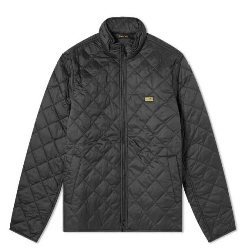 Mens Barbour International Quilt Gear Jacket in Black