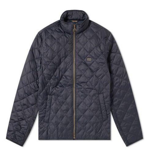 Mens Barbour International Quilt Gear Jacket in Navy Blue
