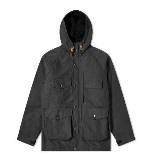 Mens Battenwear Northfield Parka Jacket in Black