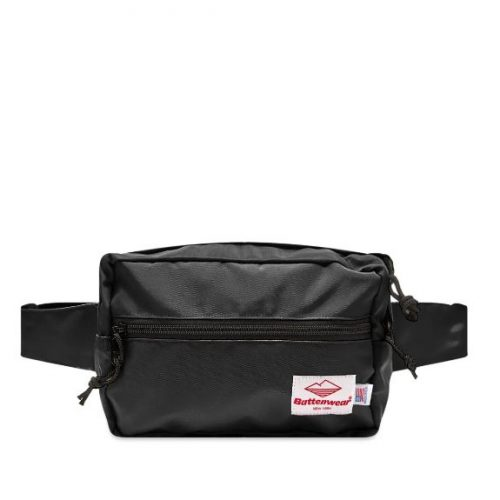 Mens Battenwear Waist Pack Bag in Black