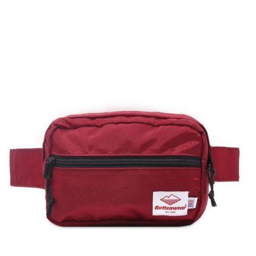 Mens Battenwear Waist Pack Bag in Bordeaux
