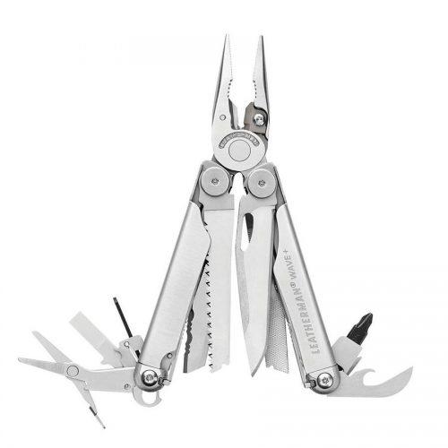 Mens Leatherman Wave+ Multi-Tool in Silver Steel