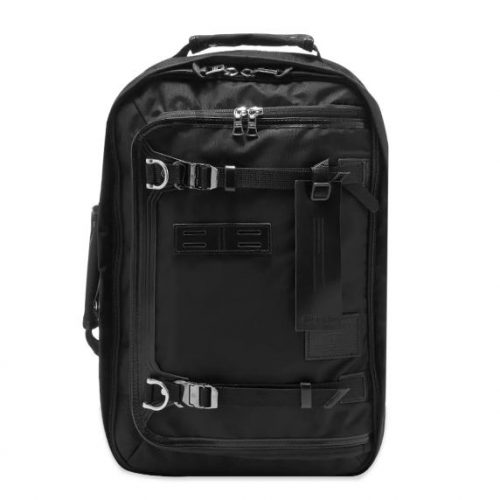 Mens Master-Piece Potential Leather Trip Backpack in Black