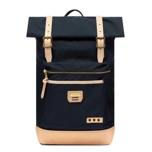 Mens Master-Piece Surpass Rolltop Backpack in Navy Blue