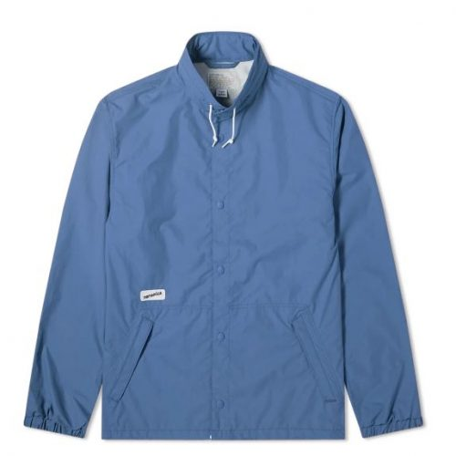 Mens Nanamica Coach Jacket in Navy Blue