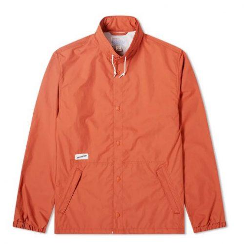 Mens Nanamica Coach Jacket in Orange
