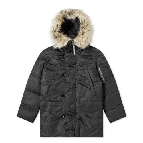 Mens Nanamica Harbor Down Coat in Black