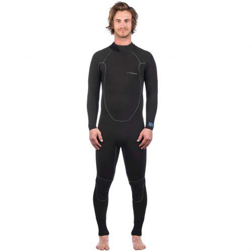 Mens Patagonia R1 Yulex Back Zip Wetsuit in Black