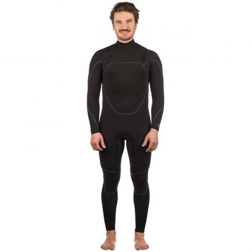Mens Patagonia R1 Yulex Front Zip Wetsuit in Black