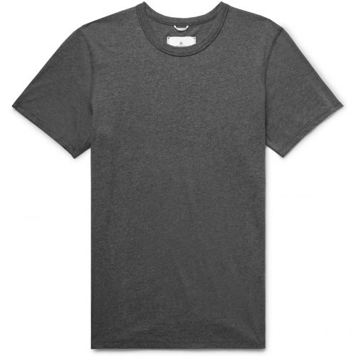 Mens Reigning Champ Pima Cotton-jersey T-shirt in Grey