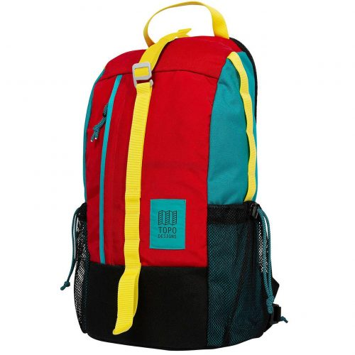 Mens TOPO Designs Backdrop Backpack in Red