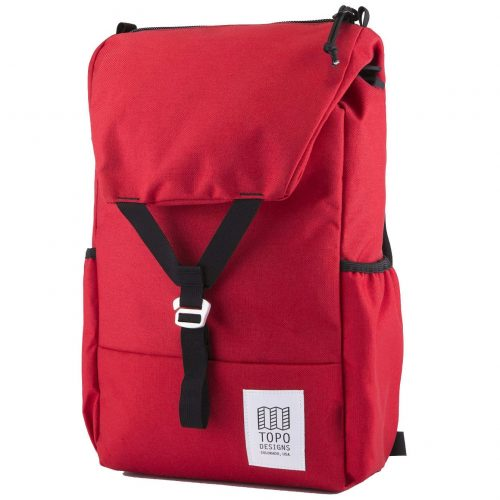 Mens TOPO Designs Y Backpack in Red