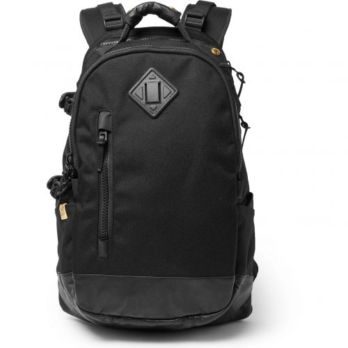 Mens visvim Cordura And Faux Leather Backpack in Black