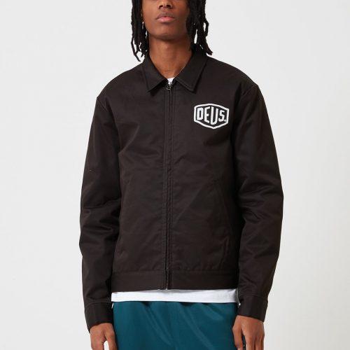 Mens Deus Ex Machina Workwear Jacket in Black