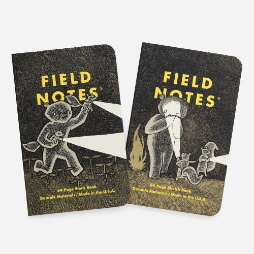 Mens Field Notes Haxley 2-Pack Note Pad in Multi