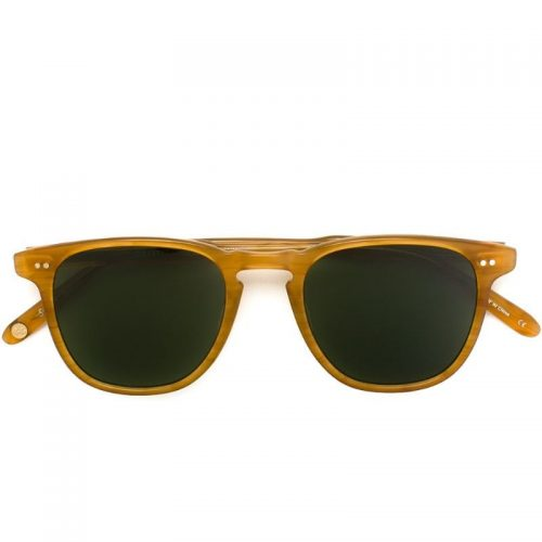 Mens Garrett Leight Brooks Sunglasses in Yellow