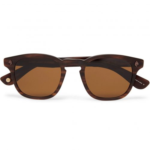 Mens Garrett Leight California Optical Ace 47 Square-frame Tortoiseshell Acetate Sunglasses in Brown