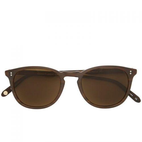 Mens Garrett Leight Kinney Sunglasses in Brown