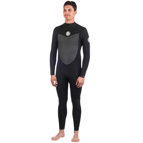 Mens Rip Curl Flashbomb 5/3 Gb Back Zip Wetsuit in Black