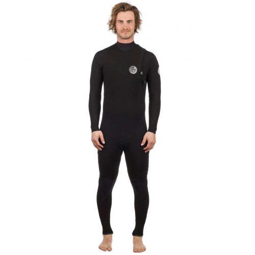 Mens Rip Curl E Bomb 3/2 Gb Zip Free Wetsuit in Black