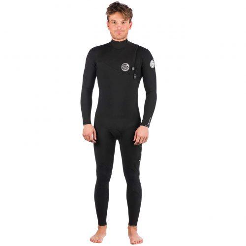 Mens Rip Curl Flashbomb 3/2 Zip Free Wetsuit in Black