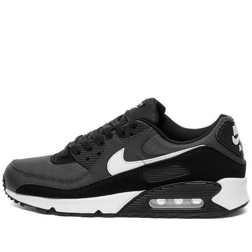 Mens Nike Air Max 90 Trainers in Iron Grey, White & Black